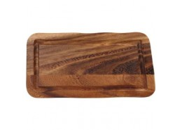 Acacia Rectangular Board with Groove
