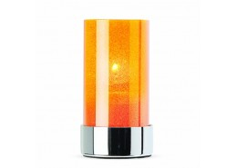 Crystal Amber Candle Holder