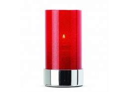 Crystal Red Candle Holder