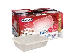 SATCO Takeaway Microwavable Container & Lid - 500ml
