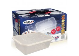 SATCO Takeaway Microwavable Container & Lid - 600ml