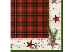 Duni Naturally Christmas Tissue Napkins 3ply
