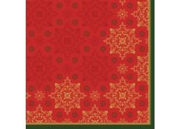 Duni Xmas Deco Red Tissue Napkins 3ply