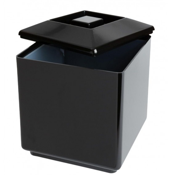 Insulated Square Ice Bucket Black 6Ltr