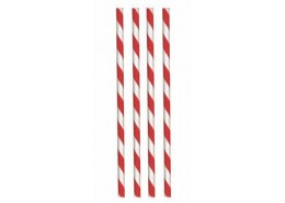 Paper Straws Red Barber
