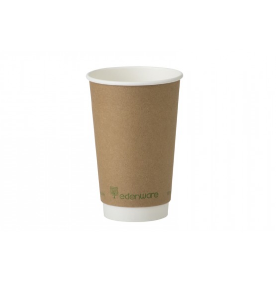 Edenware Double Wall Kraft Hot Cup
