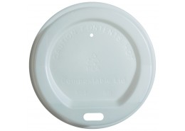 CPLA Coffee Cup Sip Lid White
