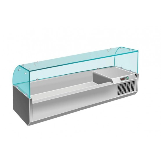 4 x 1/3GN Glass Topping Unit