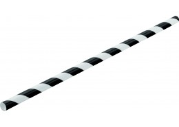 Black Striped Paper Straw (Box 250)