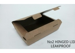 No.2 Leakproof Bio Kraft Box F/Depth Hinged Lid