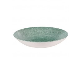 Raku Jade Green Coupe Bowl