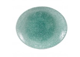 Raku Jade Green Oval Coupe Plate