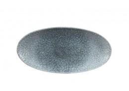 Raku Topaz Blue Chefs' Oval Plate