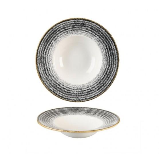 Homespun  Charcoal Black Wide Rim Bowl