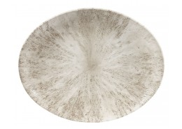 Stone Agate Grey Oval Plate
