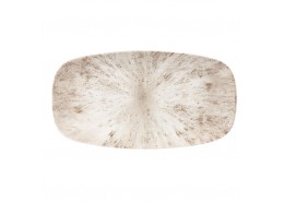 Stone Agate Grey Chefs' Oblong Plate No.4