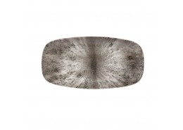 Stone Quartz Black Chefs' Oblong Plate No.3