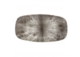 Stone Quartz Black Chefs' Oblong Plate No.4