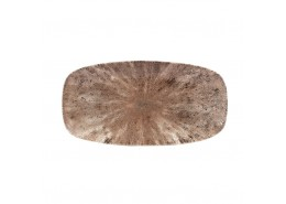 Stone Zircon Brown Chefs' Oblong Plate No.3