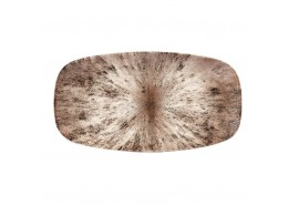 Stone Zircon Brown Chefs' Oblong Plate No.4