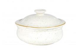 Stonecast Barley White Lidded Stew Pot