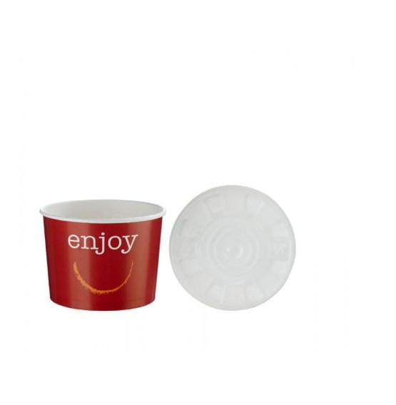 Enjoy Squat Food Container & Lid