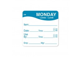DissolveMark Blue 51mm Square Label (Monday)