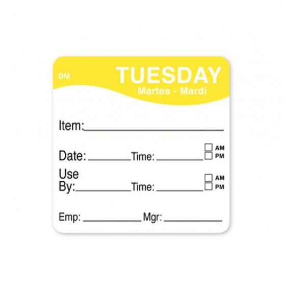 DissolveMark Yellow 51mm Square Label (Tuesday)