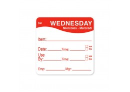 DissolveMark Red 51mm Square Label (Wednesday)