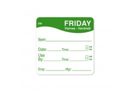 DissolveMark Green 51mm Square Label (Friday)