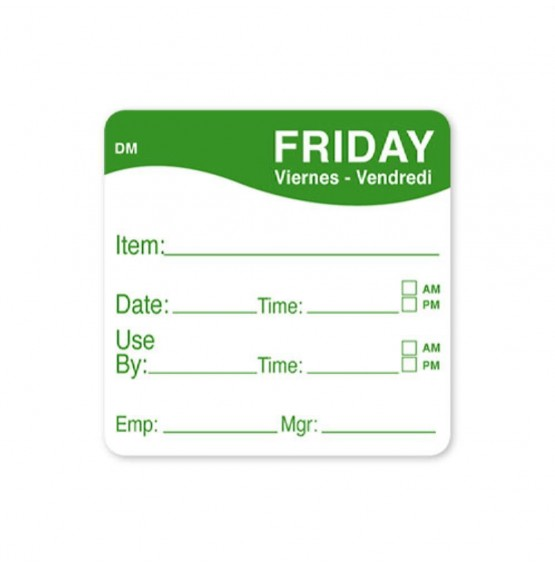 DissolveMark Green 51mm Square Label (Friday)
