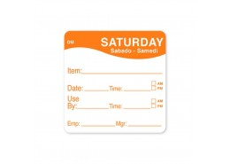 DissolveMark Orange 51mm Square Label (Saturday)