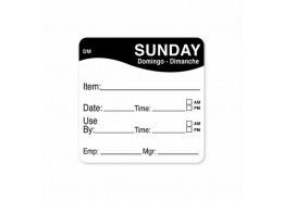 DissolveMark Black 51mm Square Label (Sunday)