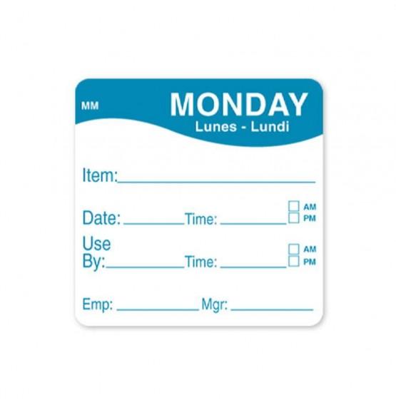 MoveMark Blue 51mm Square Label (Monday)
