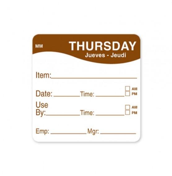 MoveMark Brown 51mm Square Label (Thursday)