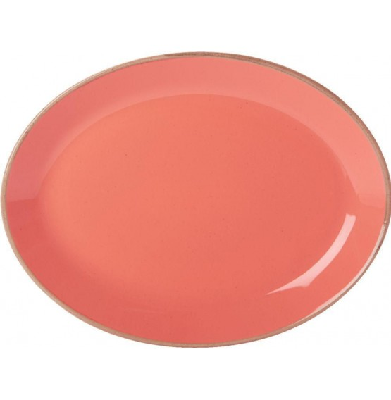 Seasons Coral Oval Plate