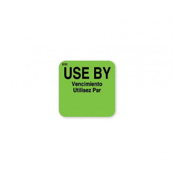 MoveMark Use By Square Label (Green)