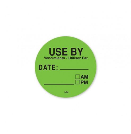 MoveMark Use By Round Label (Green)