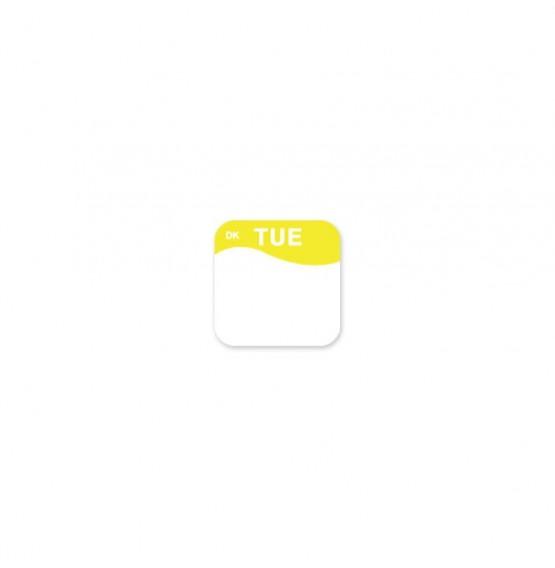 DuraMark Yellow 19mm Square Label (Tuesday)