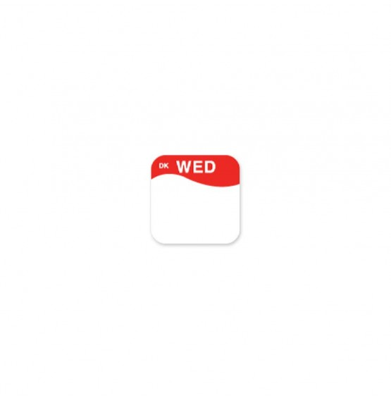 DuraMark Red 19mm Square Label (Wednesday)