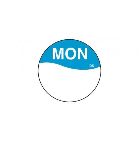 DuraMark Blue 19mm Round Label (Monday)