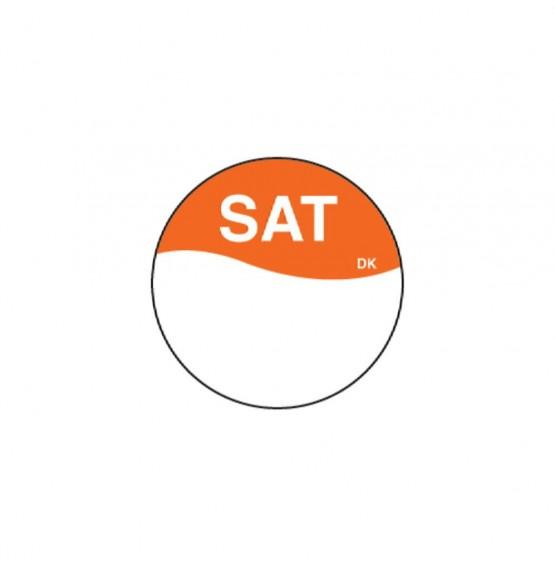 DuraMark Orange 19mm Round Label (Saturday)