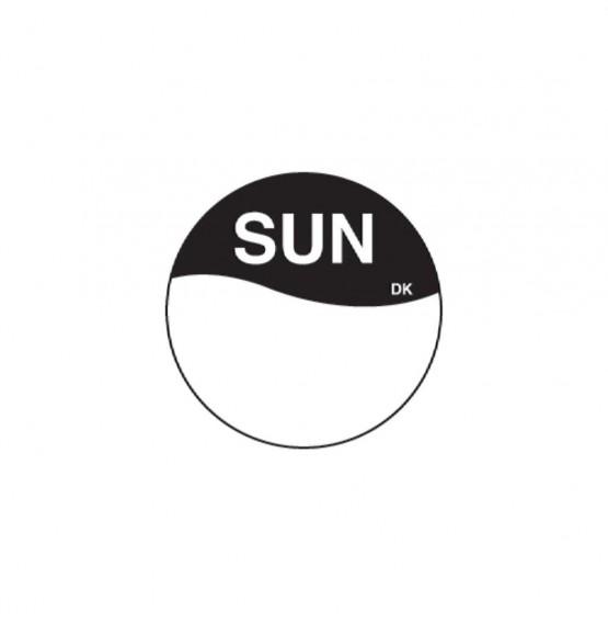 DuraMark Black 19mm Round Label (Sunday)
