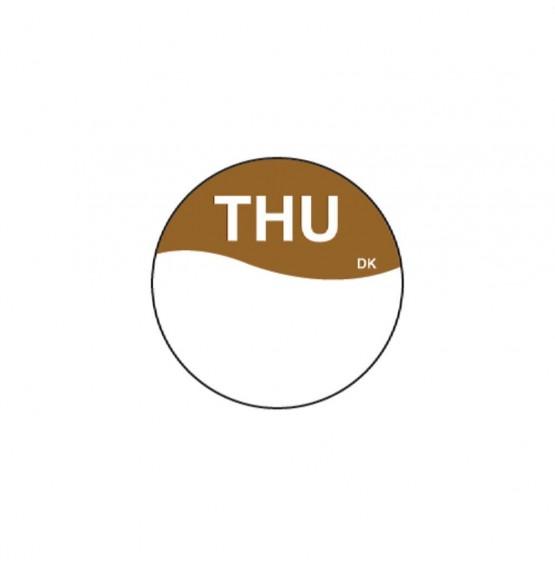 DuraMark Brown 19mm Round Label (Thursday)
