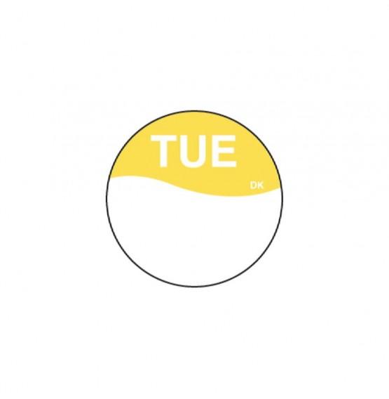 DuraMark Yellow 19mm Round Label (Tuesday)