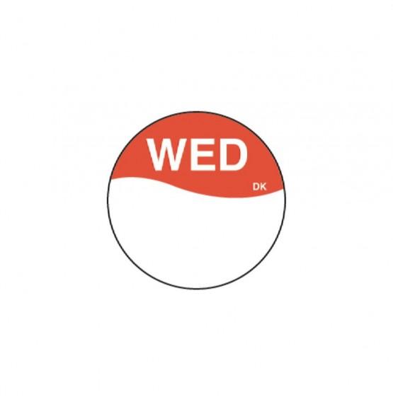 DuraMark Red 19mm Round Label (Wednesday)