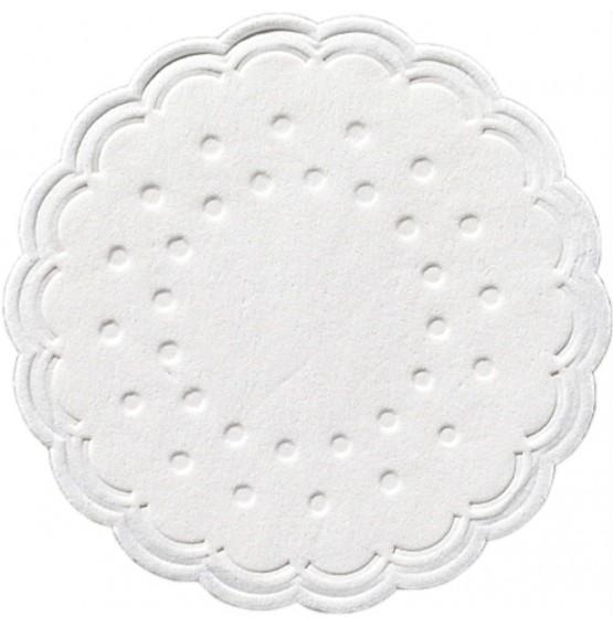 Duni Wax Backed Coasters White