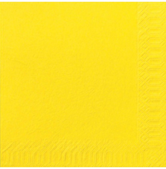 Duni Tissue Napkins 2ply Yellow