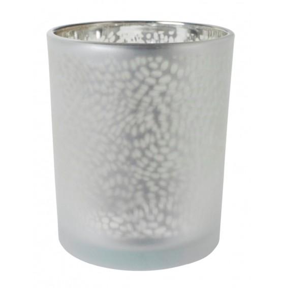 Duni Tealight Holders Arctic Silver/Granite Grey