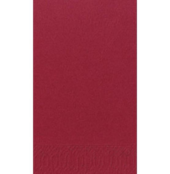 Duni Tissue Napkins 3ply 1/8 Bookfolded Bordeaux